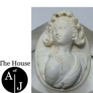 Carved Victorian Lava Rock High Relief Cameo